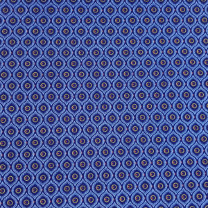 Eyes like shape in blue_Three Cats shweshwe
